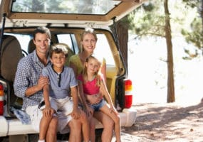 happy family with used car from Brisbane Car Broker