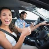 women gets new car and used car from Brisbane Car Broker