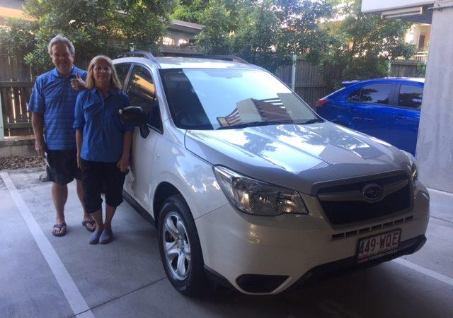 New customer Mick and his new Subaru from Brisbane Car Brokers