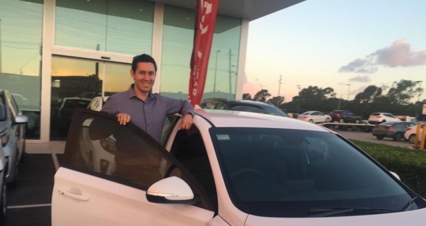 Happy customer Dan with his new car from Brisbane Car Brokers