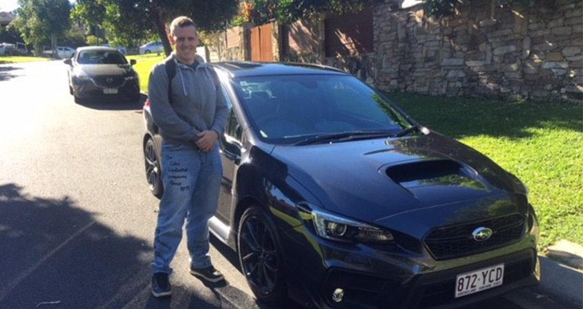 Customer of Brisbane Car Broker and his new Subaru WRX
