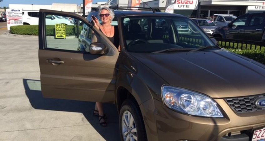 Another happy customer from Brisbane Car Brokers with her new Ford