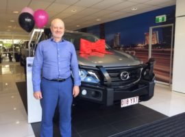 Happy customer Will with his new Mazda Ute from Brisbane Care Brokers